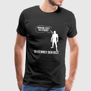 Men and straw - Men's Premium T-Shirt