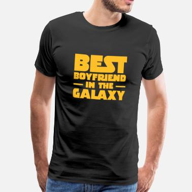 Galaxy Best Boyfriend In The Galaxy - Mannen Premium T-shirt
