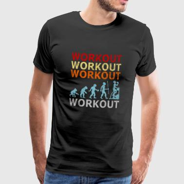 Retro Vintage Evolution Laufband Workout Fitness - Männer Premium T-Shirt