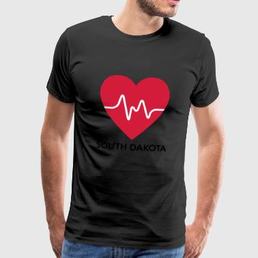 Heart South Dakota - Herre premium T-shirt