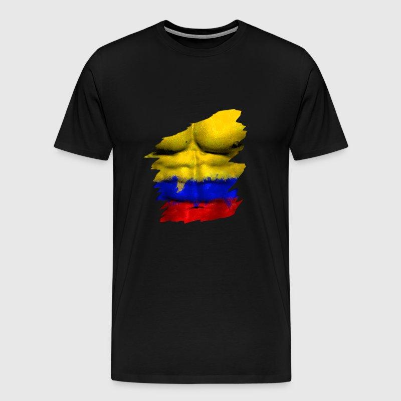 Gris Homme T Body Wm Vert Tee Shirt Colombie Premium Ripped De Man CBoerdx