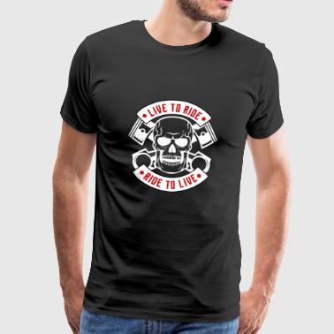 Skull and Bones - Premium T-skjorte for menn
