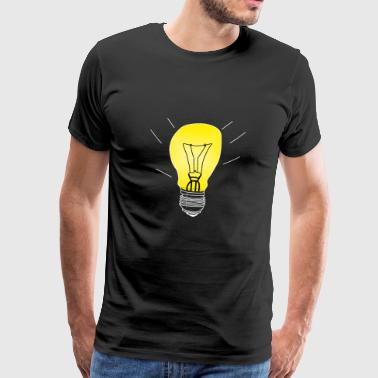 Light bulb on white gift light - Men's Premium T-Shirt