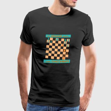 ORANGE flytte ... og CHECKMATE - skulderstropper - Herre premium T-shirt