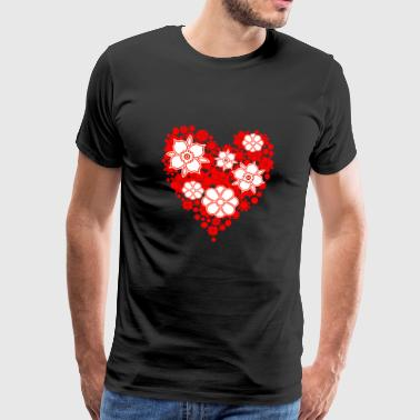 heart floral - Men's Premium T-Shirt