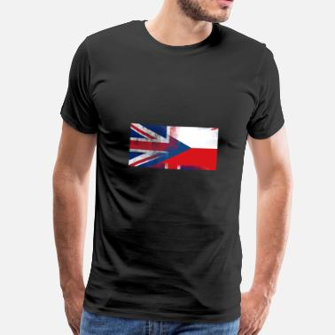 Czech British Czech Half Czech Republic Half UK Flag - Men's Premium T-Shirt