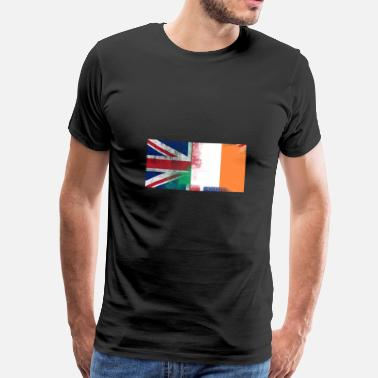 Half Irish British Irish Half Ireland Half UK Flag - Men's Premium T-Shirt