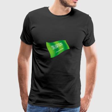 Saudi Arabia Riyadh SAU FLagge flag national colors - Men's Premium T-Shirt