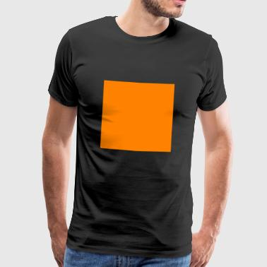 Quadrat orange - Männer Premium T-Shirt