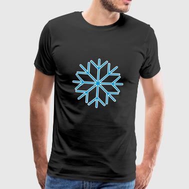 Snow snowflake ice ice crystal winter 2c - Men's Premium T-Shirt