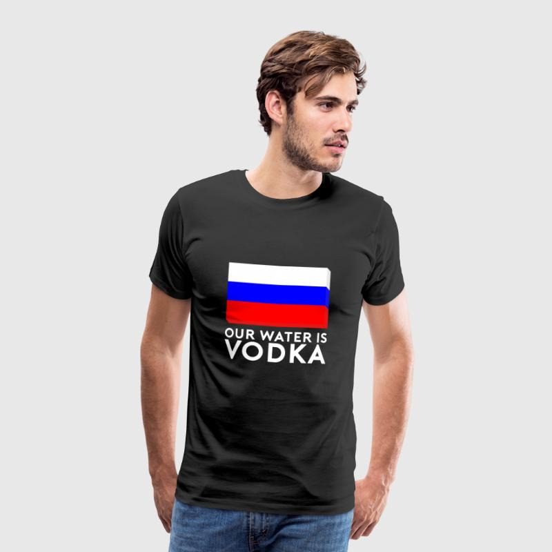 Ons Water is Vodka - Mannen Premium T-shirt