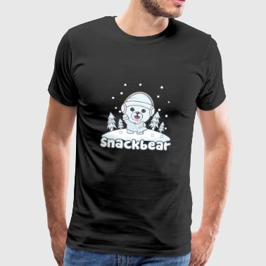 Snack bear / snack bear in the snow - Men's Premium T-Shirt