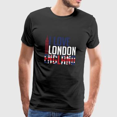 I Love London England - Men's Premium T-Shirt