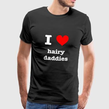 I Love Hairy Daddies - Männer Premium T-Shirt