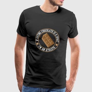 Chocolate Super Athlete - Men's Premium T-Shirt