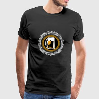 Beer glass - Father's Day - Gift - Men's Premium T-Shirt