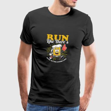 Divertente Run Like C'è Birra a Finish Line T-shirt - Maglietta Premium da uomo