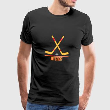 Hockey - hockey stick and puck - Men's Premium T-Shirt
