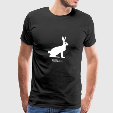 White rabbit, snow hare, fable - Men's Premium T-Shirt