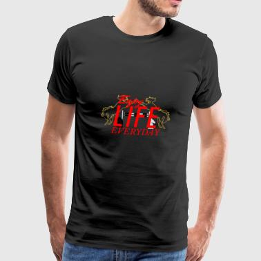 crazy A - Enjoy Life everyday | red - Men's Premium T-Shirt
