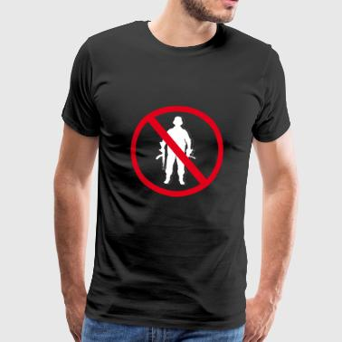 no was no war no soldiers anti military - Men's Premium T-Shirt