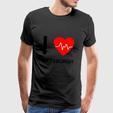 I Love Pittsburgh - jeg elsker Pittsburgh - Herre premium T-shirt