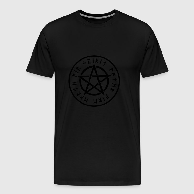 Pentagram, pentacle, rune, runes, symbols, signs - Men's Premium T-Shirt