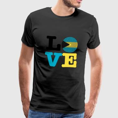 Bahamas heart - Men's Premium T-Shirt