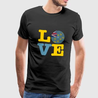 TUVALU HEART - Men's Premium T-Shirt