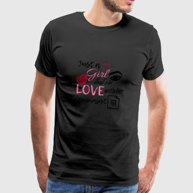 Just a girl that's in love with her criminalist - Männer Premium T-Shirt