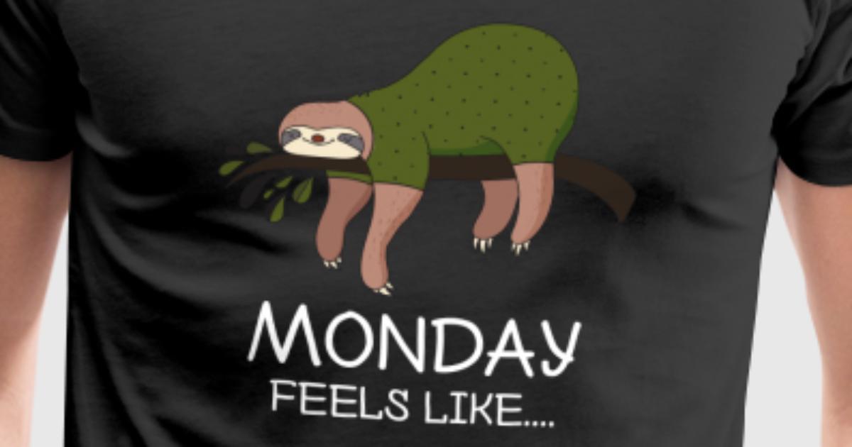 Faultier Montag lustig Büro Geschenk Geburtstag von Awesome Teesign ...