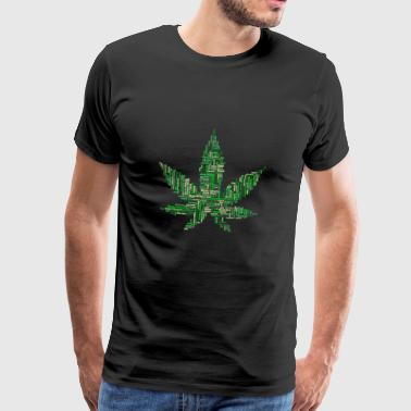 marijuana collage - Premium T-skjorte for menn