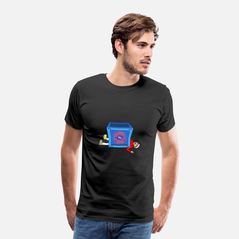 Fortnite T-shirt - BG Limited Time Fortnite Inspireret Design - Herre premium T-shirt sort