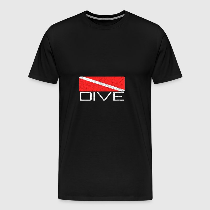 Dive | Dive design with dive flag for divers - Men's Premium T-Shirt