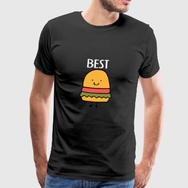 Partnershirt Best Friends, Beste Freunde, Partnershirt, Burger - Männer Premium T-Shirt