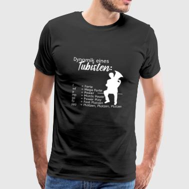 Dynamics of a tuba player - Herre premium T-shirt