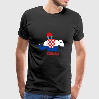 Football WC Croatie WC Soccer - T-shirt Premium Homme