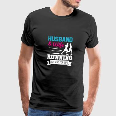 Wife and husband jogging partner - Men's Premium T-Shirt