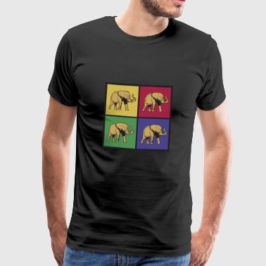 Olifant pop-art - Mannen Premium T-shirt