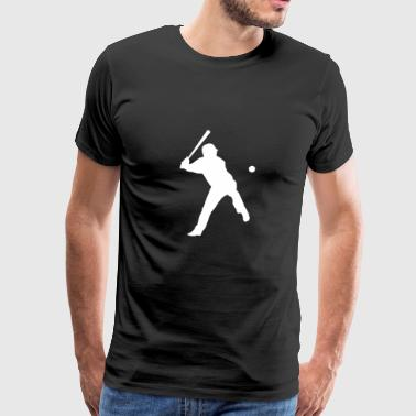 Baseball baseball player logo - Men's Premium T-Shirt