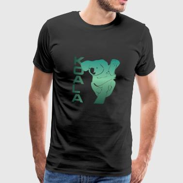 Koala eucalyptus koala bear animal - Men's Premium T-Shirt