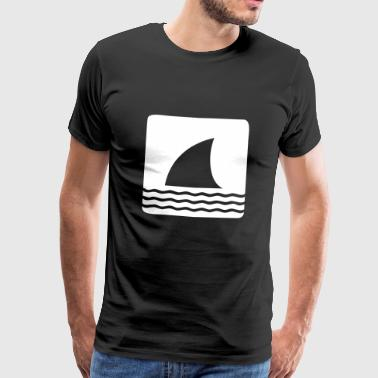 Shark shark fin shark fin waves sea - Men's Premium T-Shirt