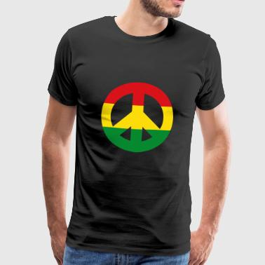 Peace Sign Reggae - Premium T-skjorte for menn