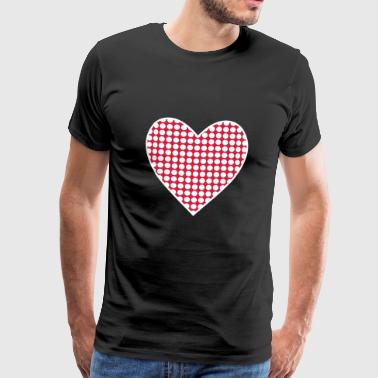 spotted heart gift - Men's Premium T-Shirt