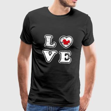 LOVE Squirrel Squirrel Wildlife Zoo Animal Park - Men's Premium T-Shirt