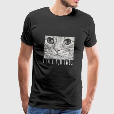 Demon Eye Evil demon cat with people eyes - Men's Premium T-Shirt
