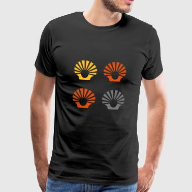 Seashell shells rays sun beach sea - Camiseta premium hombre