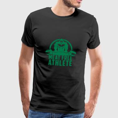 Meat Free Athlete Vegan Gorilla Gift - Men's Premium T-Shirt