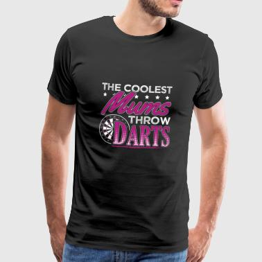 COOLEST MUMS PLAY DARTS - Männer Premium T-Shirt
