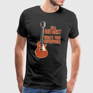 Gospel Awesome GUITARIST - Musik - Männer Premium T-Shirt